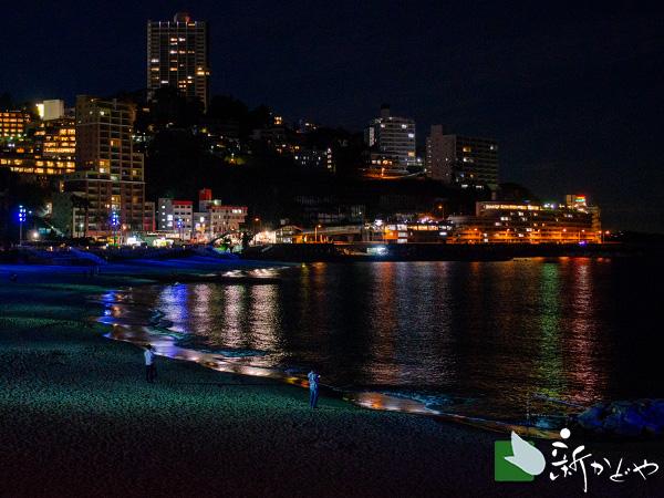 夕暮れの熱海海岸 サンビーチ
